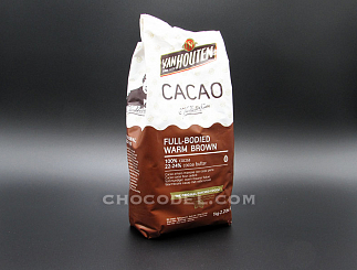 Какао порошок 100% Full-Bodied Warm Brown Van Houten (Нидерланды), 1 кг
